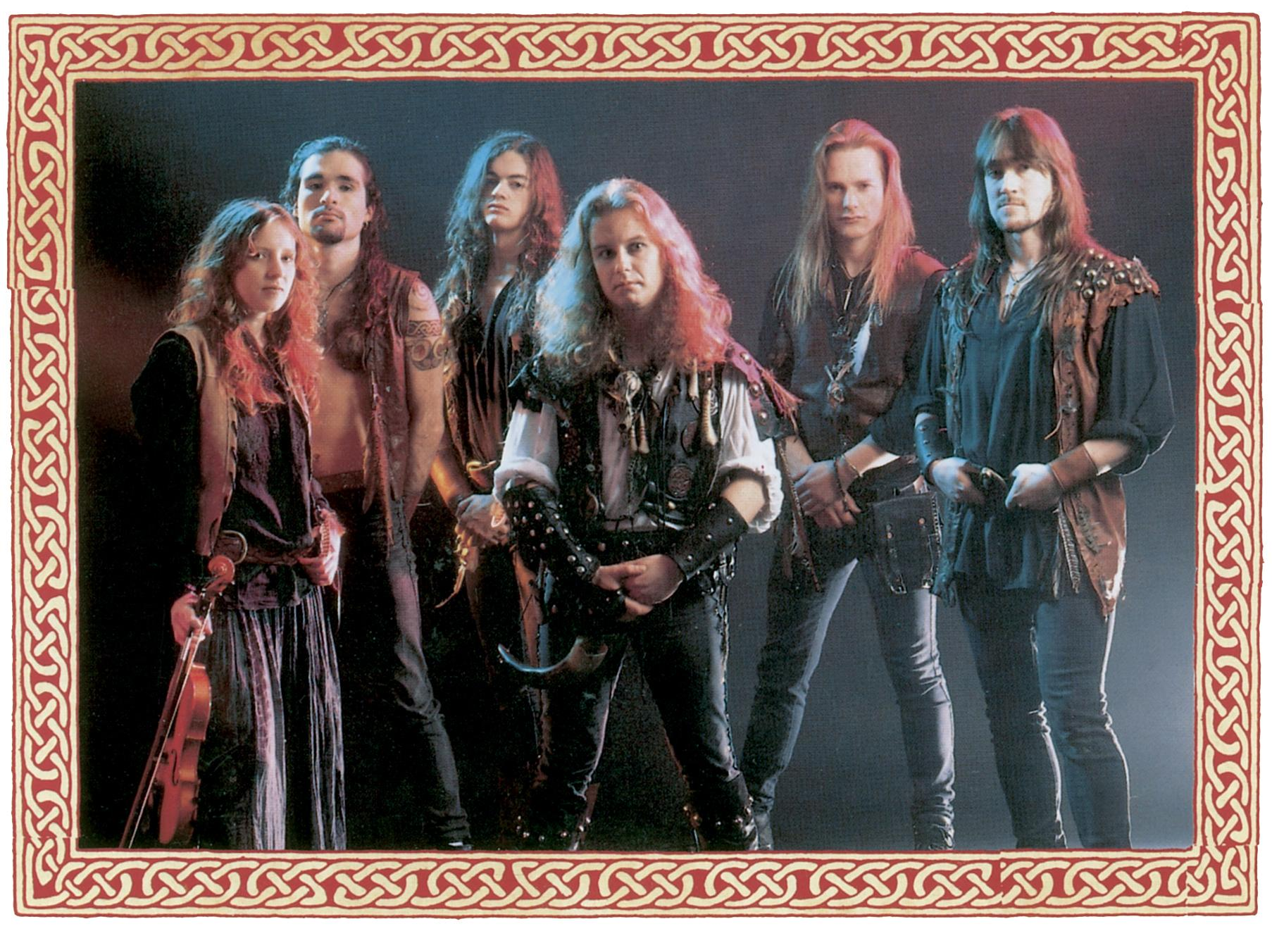 Skyclad band photo from the Noise days