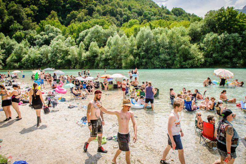 MetalDays beach in Tolmin