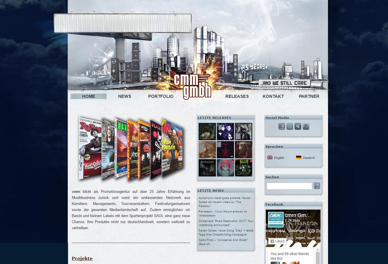 Former CMM GMBH website (screenshot)
